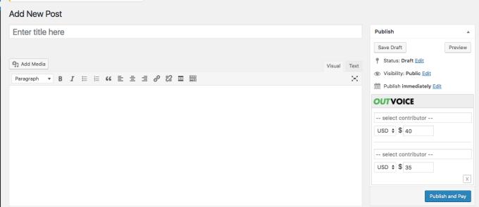 Outvoice screenshot